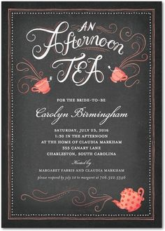 Bridal Shower High Tea Invitation Printable by pegsprints on Etsy