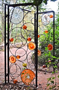 Kitengela Hot Glass installation in Nairobi - garden gate