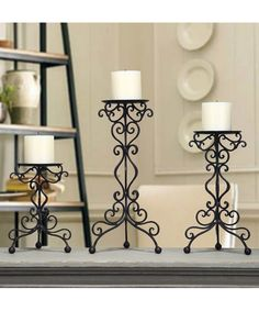 Loving this Cast Iron Ornate Candle Holders - Set of Three on #zulily! #zulilyfinds