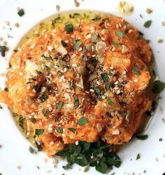 Purè di patate dolci all'aglio con pecorino Iscala Murada