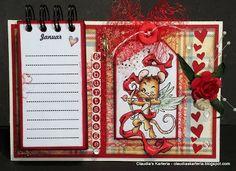 Claudia's Karteria Calendar, Blog, Cover, Crafts, Boxes, Bricolage, Handmade, Creative, Manualidades
