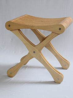 Plywood stool