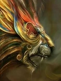 phoenix with lions head from the flames tattoos - Google zoeken