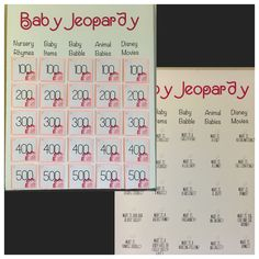 Baby Jeopardy Made This Game For My Sisteru0027s Baby Shower. I Love How It  Turned