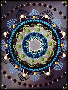 Lotus Blossom Mandala Painting by Kirsty Russell by ArtbyKirstyRussell on Etsy