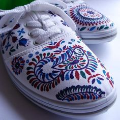 folklore slovakia Painted Sneakers, Slip On, Czech Republic, European Countries, Clothes, Shoes, Bohemian, Tattoo, Style