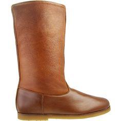 KMB M368 Braune Damen-Stiefel von KMB aus feingenarbtem Leder und Glattleder kombiniert. Die Stiefel sind mit Warmfutter aus 100% echtem Lam...