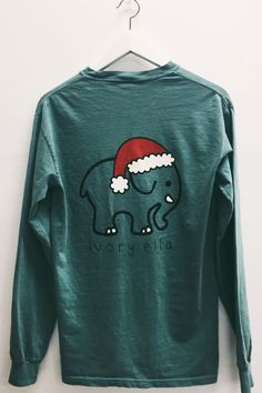 Ivory Ella new Christmas Santa hat long sleeve shirt