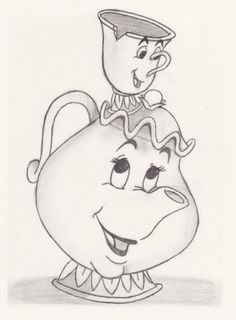 My Disney drawing – Mrs. Potts & Chip (Beauty and the Beast) – Sketch – Comic zeichnungen – My Disney drawing – Mrs. Potts & Chip (Beauty and the Beast) – Sketch – Comic zeichnungen – Disney Pencil Drawings, Easy Disney Drawings, Disney Drawings Sketches, Cute Drawings, Drawing Sketches, Drawing Disney, Belle Drawing, Drawing Ideas, Sketching