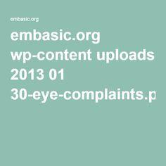 embasic.org wp-content uploads 2013 01 30-eye-complaints.pdf