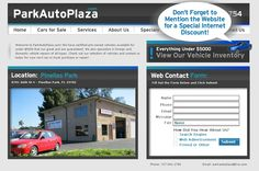 www.ParkAutoPlaza.com    Park Auto contacted us to create a clean little site for their repair shop and car dealership. Our SEO strategy brings in traffic everyday and they love us at ProDev!