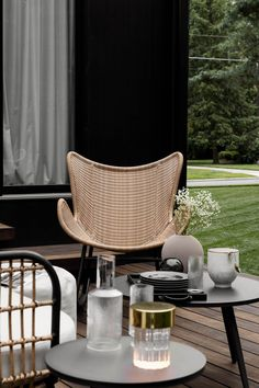The Beltaine Rocking Chair, made from durable synthetic wicker and a powder-coated aluminum frame, is the perfect locale for afternoons in the backyard with a book and a lemonade. Photo by Phil Cohen. #RockingChair #ModernPatio #PatioInspiration #PatioDesign Modern Patio, Mid-century Modern, High Quality Furniture, Modern Furniture, Lounge Chairs, Patio Design, Simple Living, Rocking Chair, Lemonade