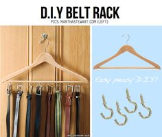 Belt hanger DIY, even better bc I have already have all the 'ingredients' to try out this project!