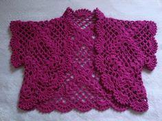 Torerita color morado tejida al crochet - Chalecos - Ropa - 1406