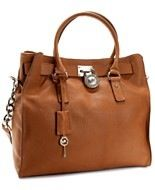 MICHAEL Michael Kors Handbag, Large Hamilton Chain Tote with Silver Hardware $358.00  Macy's