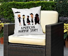 american horror story coven Decorative pillow by by SudoRejo