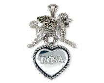 Poodle Angel Personalized Pendant Sterling Silver Dog Jewelry PD53A-TP