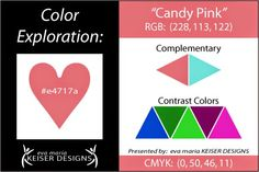Eva Maria Keiser Designs: Explore Color:  Candy Pink
