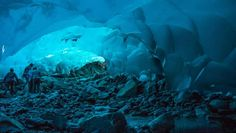 Cuevas de hielo de Juneau, en Alaska.