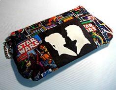 Show off your inner romantic with this more than slightly geeky nod to the great space opera. Featuring two hand painted silhouettes of the smuggler and his princess.Slightly sparkly as if being they are among the stars.  13 inch opening with a zippered closure  15 inches at its widest point ...