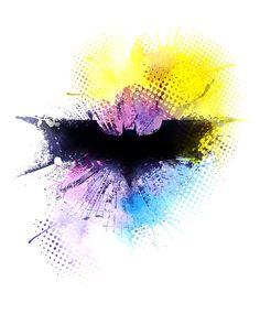 Batman / instant download / printable art / watercolor / Superhero / 0014