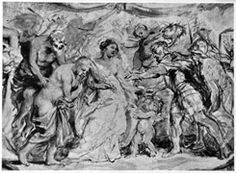 detail; Wittkower regards this image as sketch for the cycle of the life of Henri IV and interprets it as Occasio led by Minerva before Henri IV who can then grasp her; Held regards it as a stand-alone allegory and gives no political interpretation; similar sketch in the Arenberg Collection ARTIST/CREATOR Rubens, Peter Paul (1577 - 1640) DATE circa 1628 LOCATION Vienna, Liechtenstein Museum