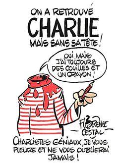 Dessin pour Charlie Florence Cestac