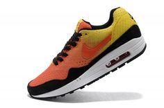Pas cher France Nike Air Max 1 Homme Orange/Jaune/Blanche  France Vente