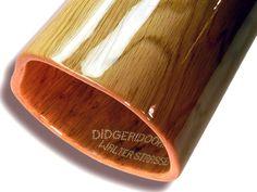 Woodslide Didgeridoo - (Detailansicht / Bell-end) Roteiche