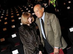 Anna Wintour and Oscar de la Renta attend the Diane Von Furstenberg Fall 2012 fashion show during Mercedes-Benz Fashion Week at The Theatre at Lincoln Center on February 12, 2012 in New York City.