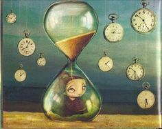 Time is on my mind Mini Album Scrapbook, Egg Timer, Clock Art, Clocks, Les Sentiments, Girl With Hat, Time Art, Heart Art, Bottle Design