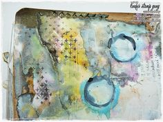 Art Journal Page Tutorial By Marta Lapkowska | Lindy's Stamp Gang
