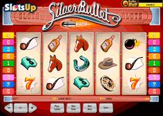 Shoot your 10,000-coin jackpot in the Silver Bullets free slot! Playtech created the nice 5-reel, 9-payline Silver Bullets slot dedicated to Wild West adventures, cowboys, sheriffs, and guns. Start your lucky streak with Wild and Scatter icons, win the base game jackpot and the Dollar Bat prize. The action starts at www.SlotsUp.com