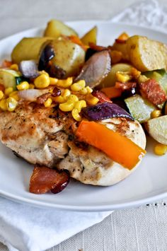 chicken and vegetable skillet - my search for yummy healthy(ish) weeknight meals continues