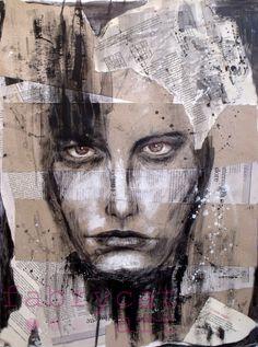 """""""Black magic""""  Mixed media art by fabrycat"""