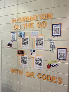QR code display - for open house! PTO? Did this last year with my contact info for parents- need hubby to do it again
