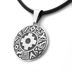 Colgante calendario chakana Peru Tattoo, Inca Tattoo, Tatuaje Cover Up, Sacred Symbols, Sacred Geometry, Trees To Plant, Washer Necklace, Jewelry Accessories, Graphic Design