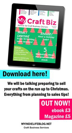 In this issue we are talking all about preparing for sales on the run up to Christmas. From planning your production to handling customers get tips on how to host a great sales season! GRAB YOUR COPY NOW! Twitter For Business, Small Business Marketing, Pinterest For Business, Craft Business, Creative Business, Business Tips, Production Planning, Opening An Etsy Shop, Small Business Resources