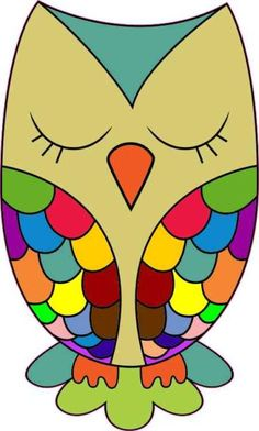 Green Rainbow Owl Sticker