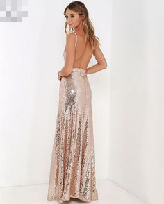 Sequins Long Gown Bling Bridal Formal Glitter Pageant Maxi Dress Slim New Womens   eBay