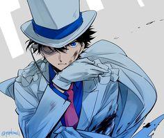 Magic Kaito, Cute Anime Guys, Awesome Anime, Detective Conan Shinichi, Kaito Kuroba, Kaito Kid, Amuro Tooru, Detektif Conan, Kudo Shinichi