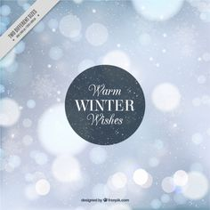 Winter bokeh abstract background Free Vector