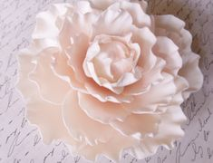 Blush Pink Sugar Gumpaste Peony Wedding Cake by SUGARonTOPsugarart