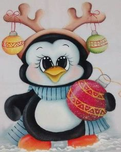 Currently In Stock - Diamond Painting Kit - Christmas Penguin - 30 x Full Drill (round) Christmas Rock, Christmas Canvas, Christmas Colors, Christmas Holidays, Christmas Decorations, Christmas Ornaments, Christmas Drawing, Christmas Paintings, Christmas Animals