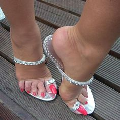 59 High Heel Mules That Make You Look Cool - Shoes Market Experts Sexy Legs And Heels, Hot High Heels, Long Toenails, Beautiful Toes, Sexy Sandals, Sexy Toes, Female Feet, Pretty Shoes, Hot Shoes