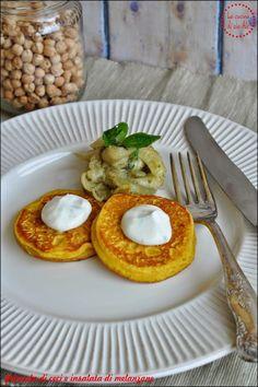 Pancake di ceci con insalata di melanzane e salsa allo yogurt | La cucina di zia Ale