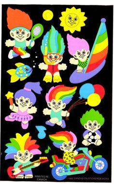4 arco nostalgia-sticker de papel con glitter Pegatina Sticker arco Vintage