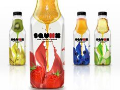 Packaging of the World: Creative Package Design Archive and Gallery: Squiix (Student Work) Beverage Packaging, Bottle Packaging, Fruit Drinks, Beverages, Packaging Design Inspiration, Design Packaging, Student Work, Design Art, Graphic Design