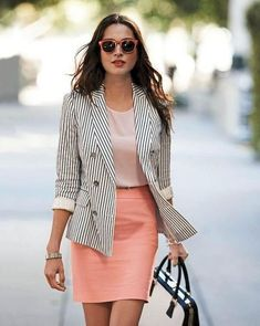 33 trendy business casual work outfit for women 18 Classy Work Outfits, Spring Work Outfits, Work Casual, Casual Summer, Fall Outfits, Casual Office, Office Chic, Smart Office, Outfit Work