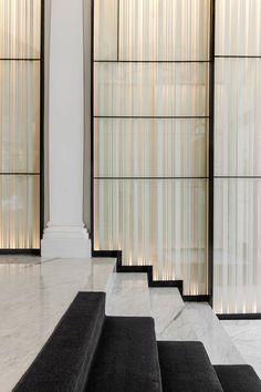 Delicate screen detail. Backlit sheer curtain. lovely. Htel Vernet, Paris, 2014 - François Champsaur